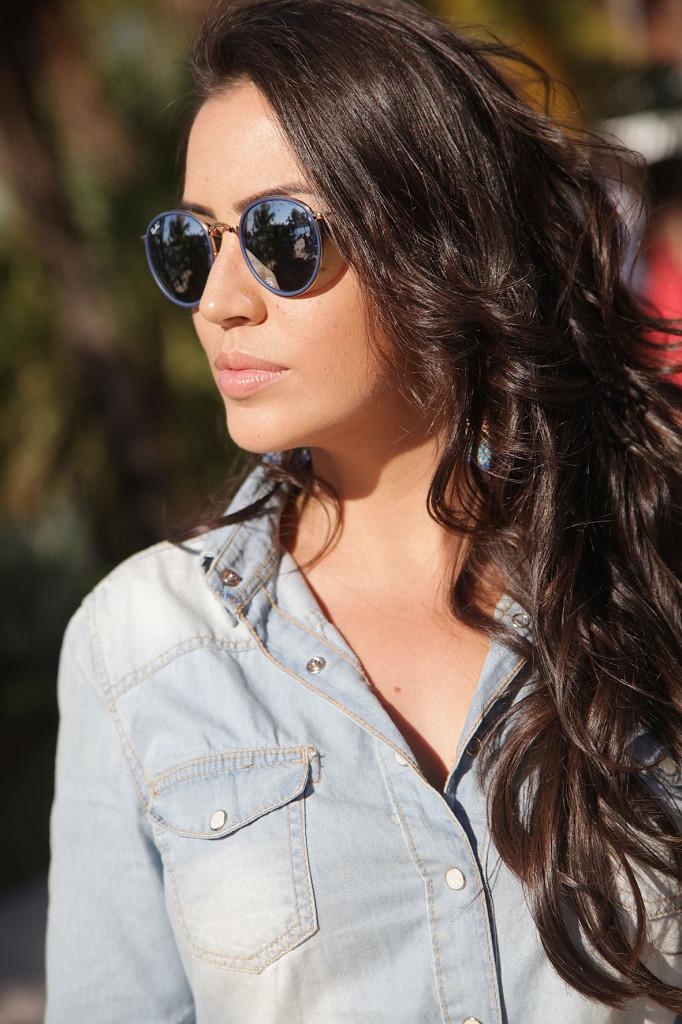 ba071663943de Look da Vanessa! Jeans + Rayban
