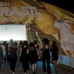 O Museu Nacional em Brasília transformou-se em uma enorme tela de projeção! Foto Sério Amaral / CNI