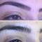 Antes e depois das minhas sobrancelhas!