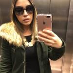 Óculos óticas Nana Verre e o casaco Zara para aguentar o inverno rigoroso