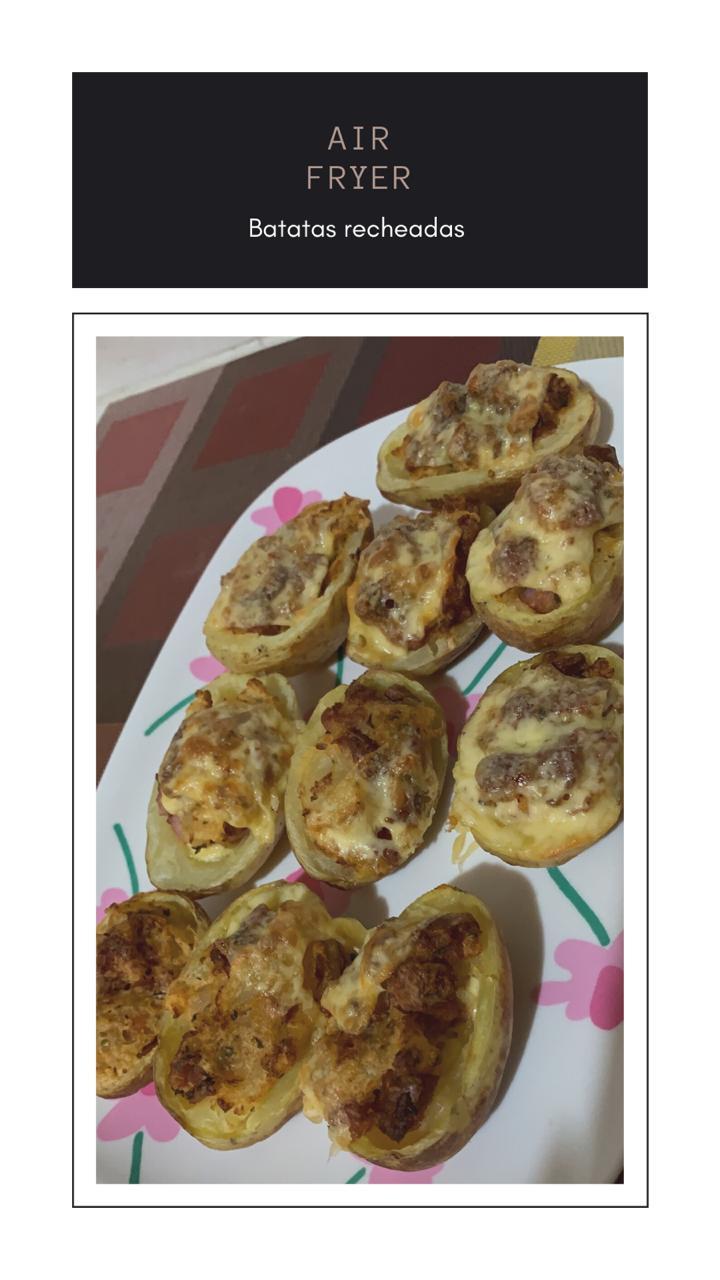 Batatas Recheadas na air fryer! Simples e gostosas! 2