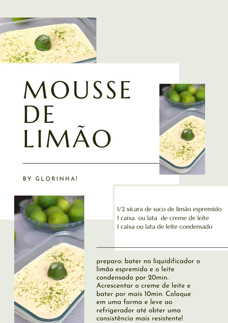 Receita prática! Mousse de Limão da mamãe. 3